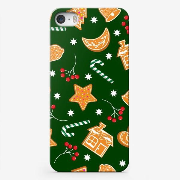 Чехол iPhone «Паттерн с печеньем»