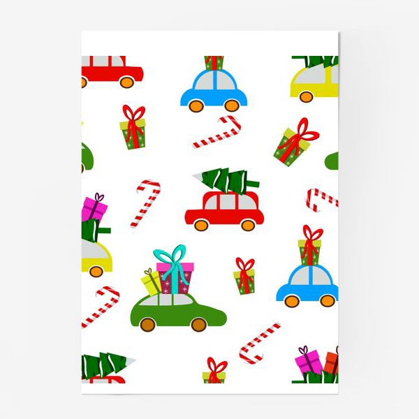 Постер «Новогодние  машинки»