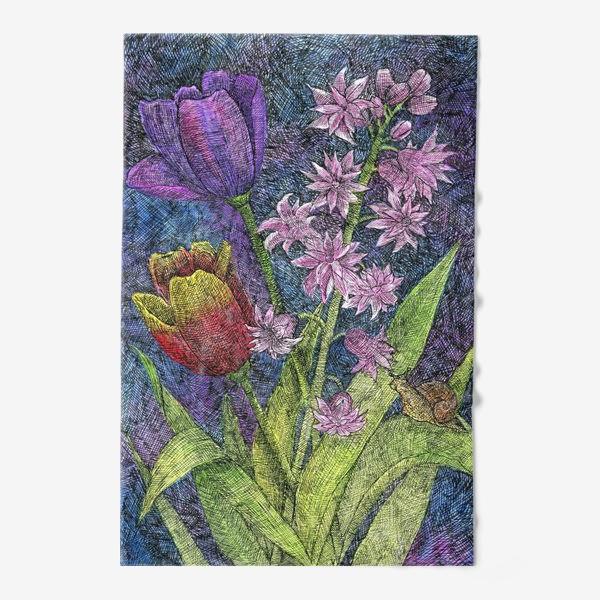 Полотенце «Тюльпаны и гиацинт»