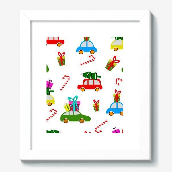 Картина «Новогодние  машинки»