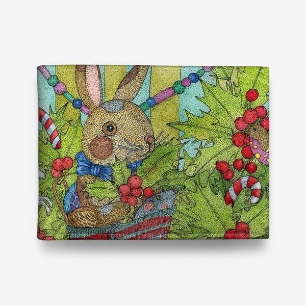 Кошелек «Плюшевый кролик на Новый год»