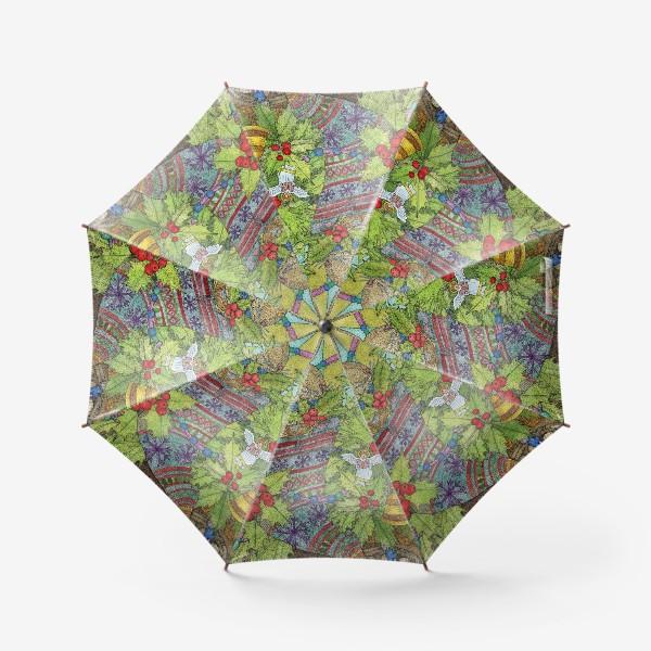 Зонт «Плюшевый кролик на Новый год»