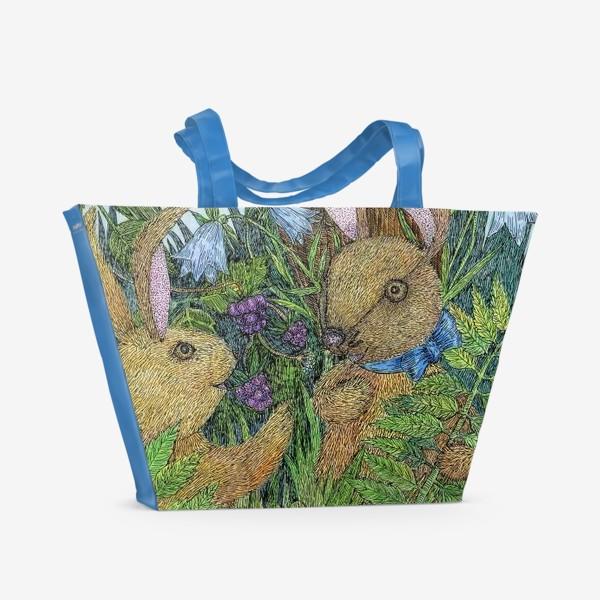 Пляжная сумка «Кролики»