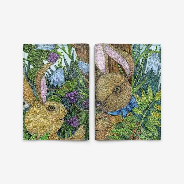 Обложка для паспорта «Кролики»
