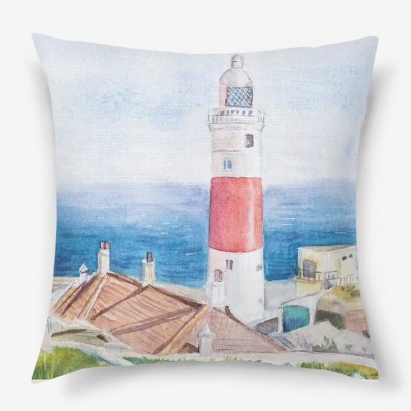 Подушка «Маяк и море»