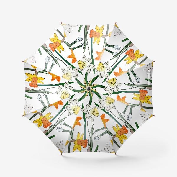 Зонт «букет нарциссы»