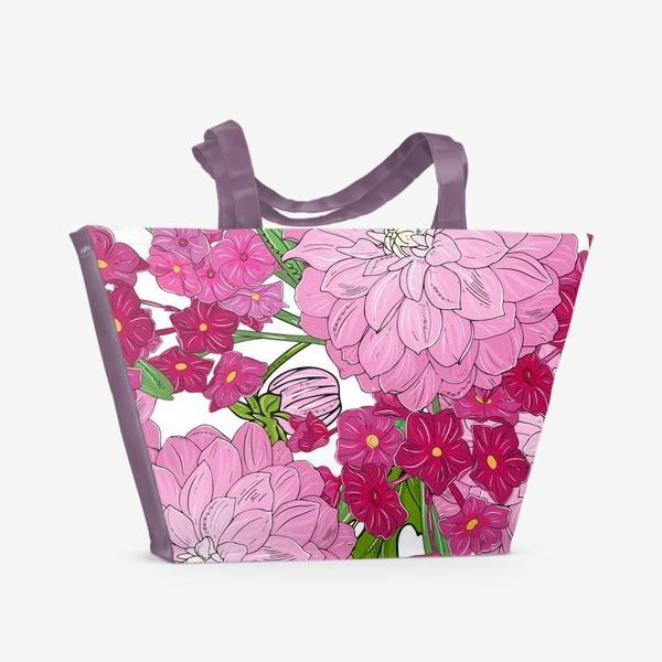 Пляжная сумка «пионы»