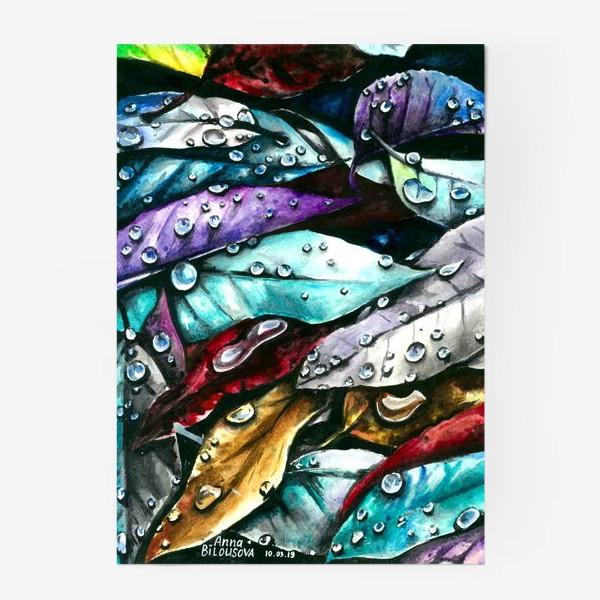 Постер «Осенние листья, акварель»