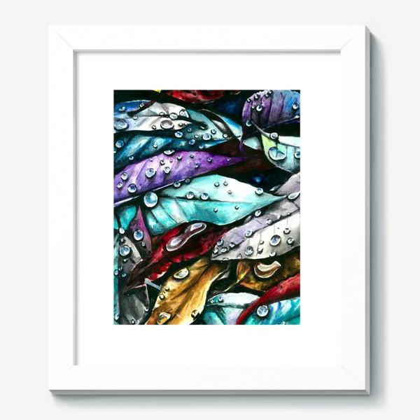 Картина «Осенние листья, акварель»