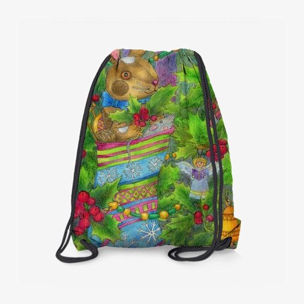 Рюкзак «Заяц в подарок на Новый год»