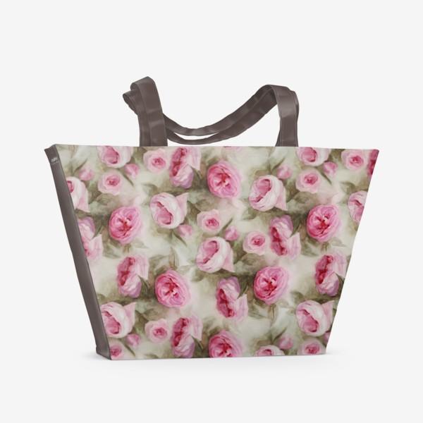 Пляжная сумка «Розы. Романтика.»