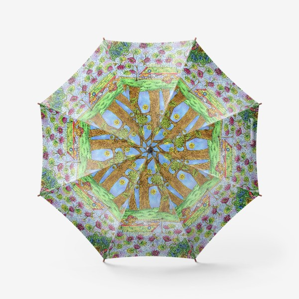 Зонт «Летняя рыбалка котика»