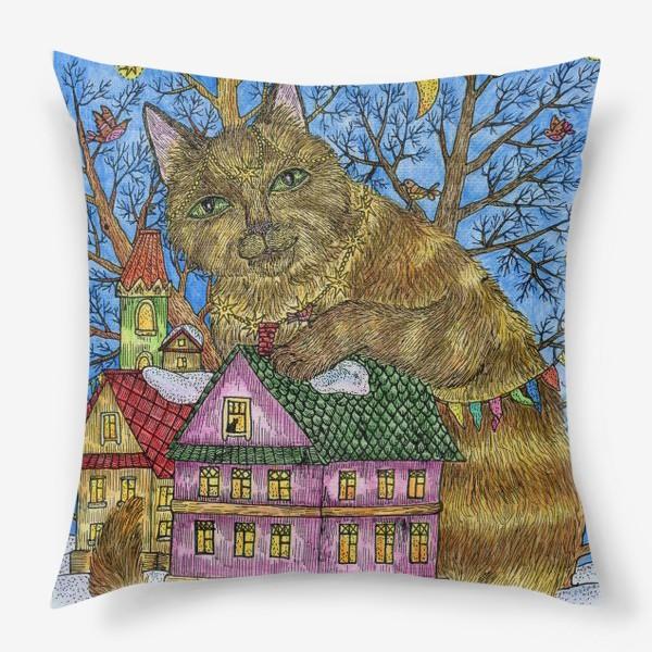 Подушка «Большая сказочная кошка»