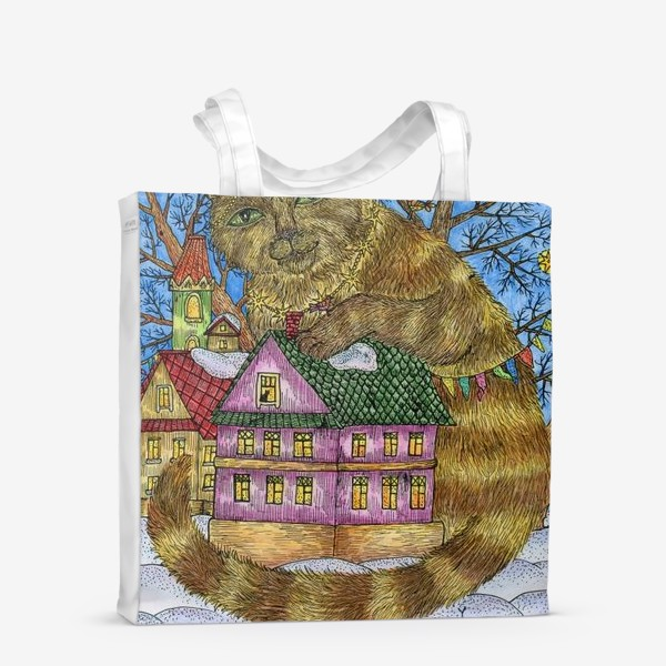 Сумка-шоппер «Большая сказочная кошка»