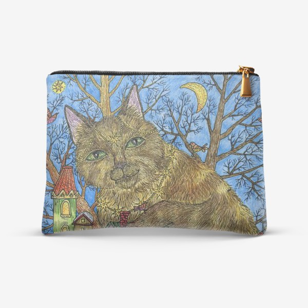 Косметичка «Большая сказочная кошка»