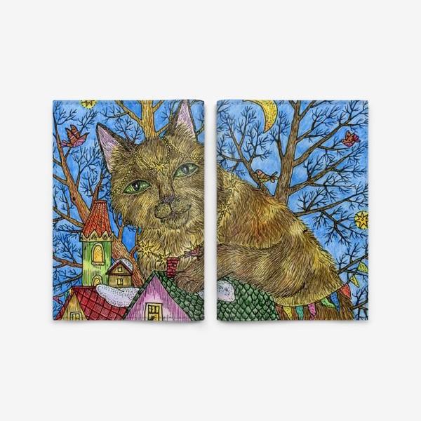 Обложка для паспорта «Большая сказочная кошка»