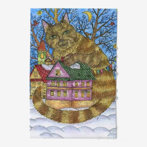 Полотенце «Большая сказочная кошка»