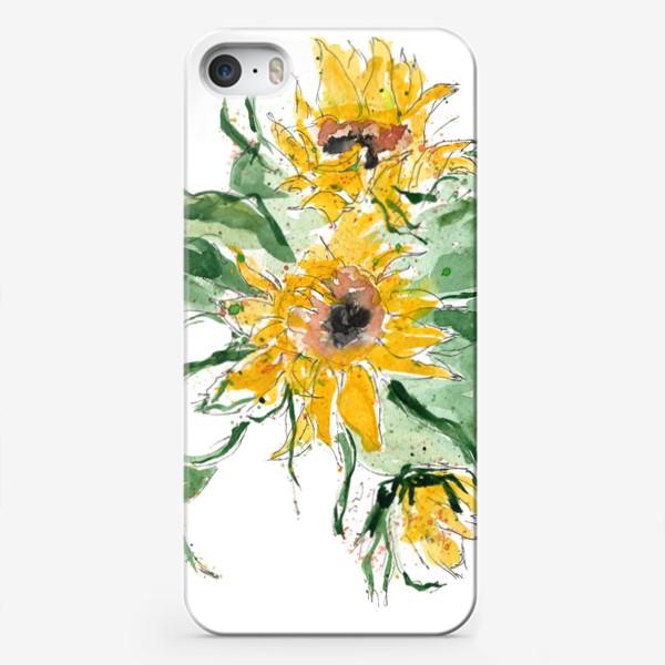 Чехол iPhone «Подсолнухи! Привет из осени...»