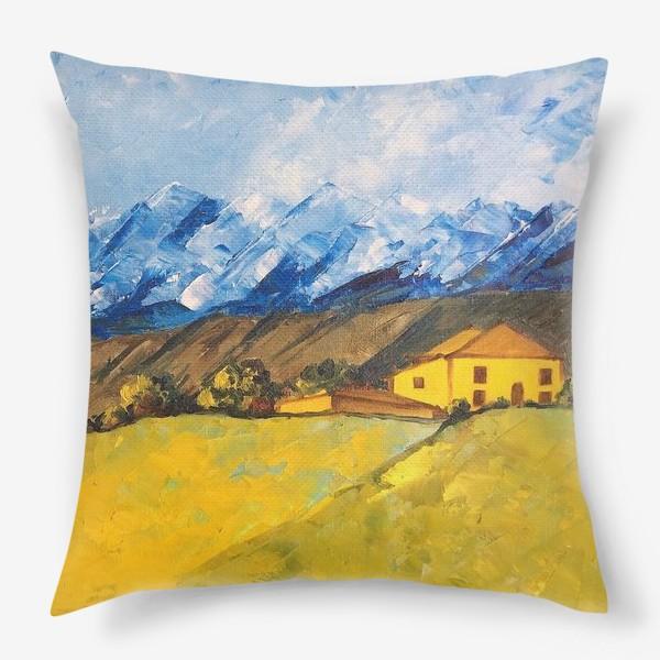 Подушка «Горный пейзаж»