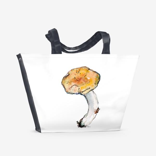 Пляжная сумка «Гриб. Мал, да удал!»