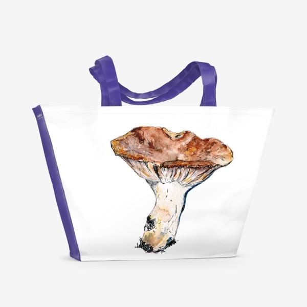 Пляжная сумка «Гриб. Начинаем грибную охоту!»