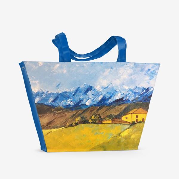 Пляжная сумка «Горный пейзаж»