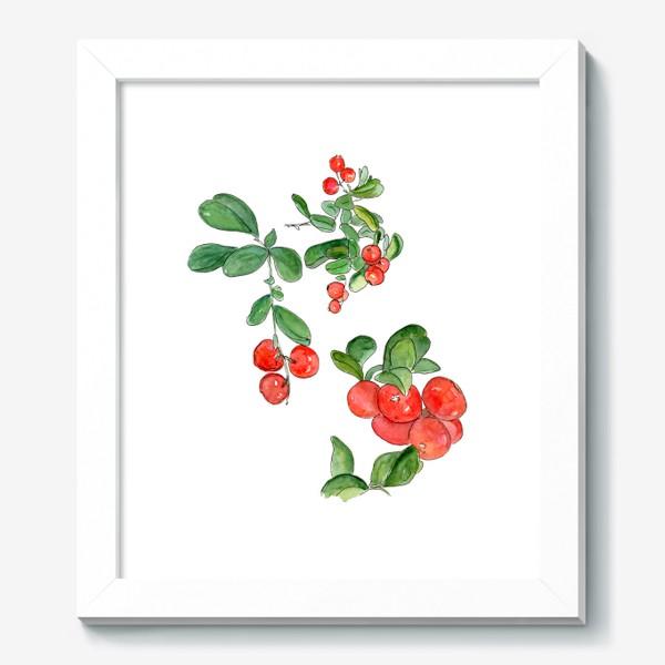 Картина «Брусника - богатство осеннего леса»