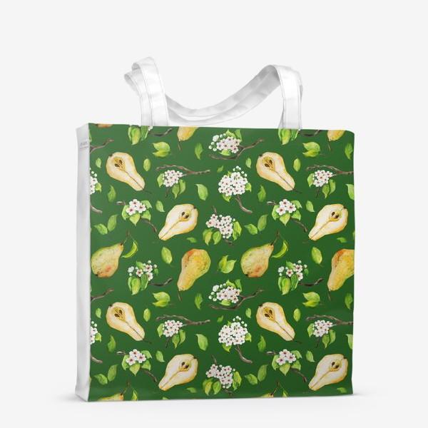 Сумка-шоппер «Грушевый сад. На зеленом. »
