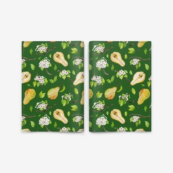 Обложка для паспорта «Грушевый сад. На зеленом. »