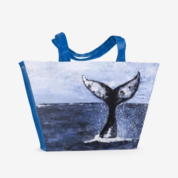 Пляжная сумка «Хвост кита»