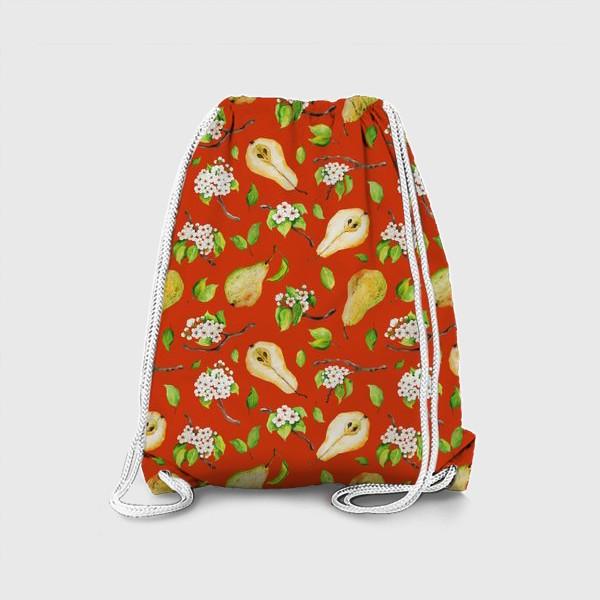 Рюкзак «Грушевый сад. На кирпичном фоне.»
