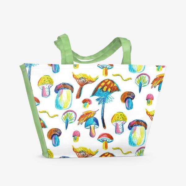 Пляжная сумка «Грибочки»