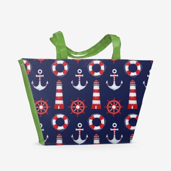 Пляжная сумка «Морской паттерн»