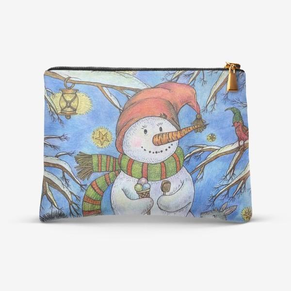 Косметичка «Веселый снеговик»