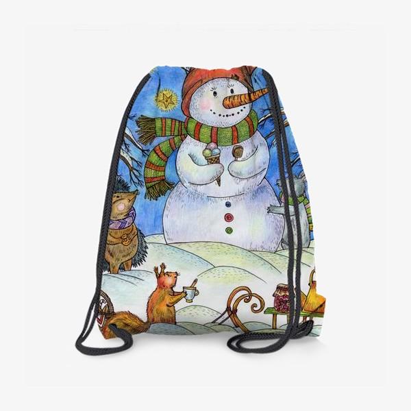 Рюкзак «Веселый снеговик»
