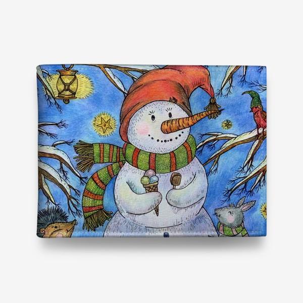 Кошелек «Веселый снеговик»