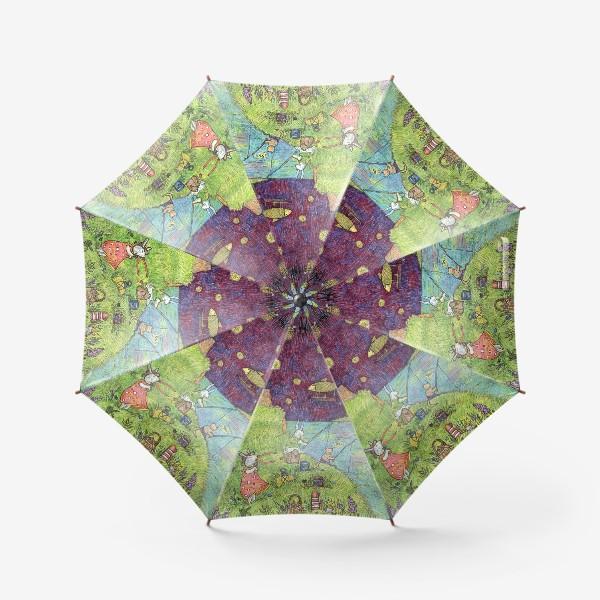 Зонт «Ночная рыбалка Зайцев»