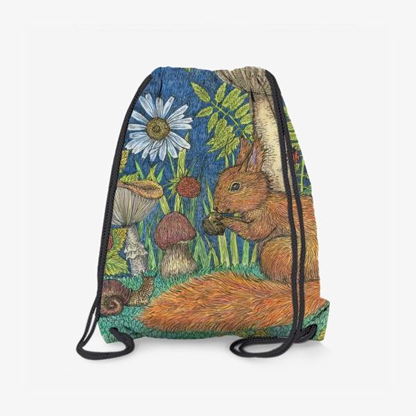Рюкзак «Белка и грибы»