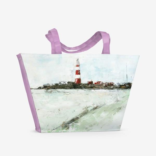 Пляжная сумка «Абстрактный маяк»