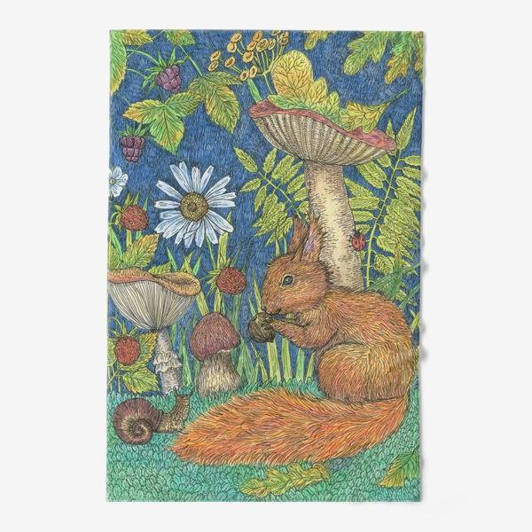 Полотенце «Белка и грибы»