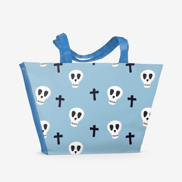 Пляжная сумка «Черепушки»