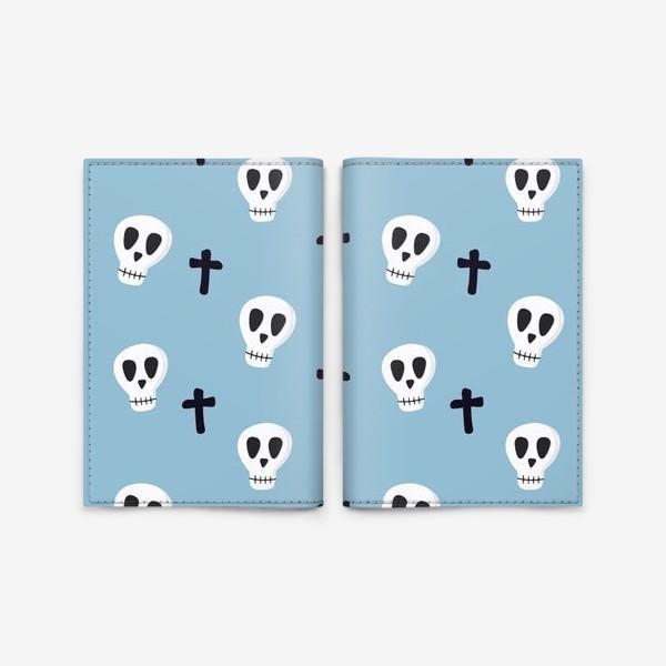 Обложка для паспорта «Черепушки»