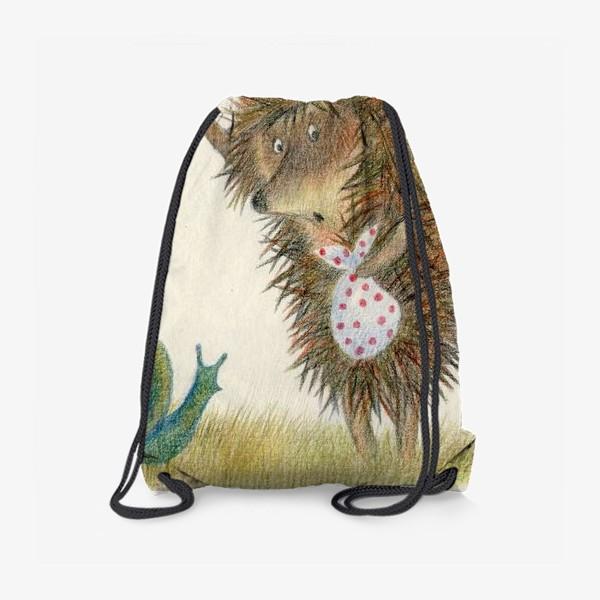 Рюкзак «Ежик в тумане, листок и улитка»