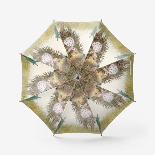 Зонт «Ежик в тумане, листок и улитка»