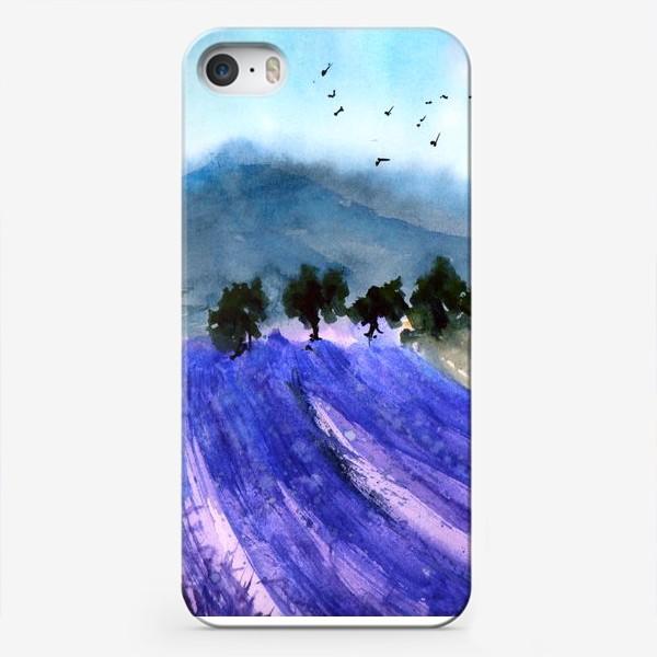 Чехол iPhone «Лавандовые поля Прованса»