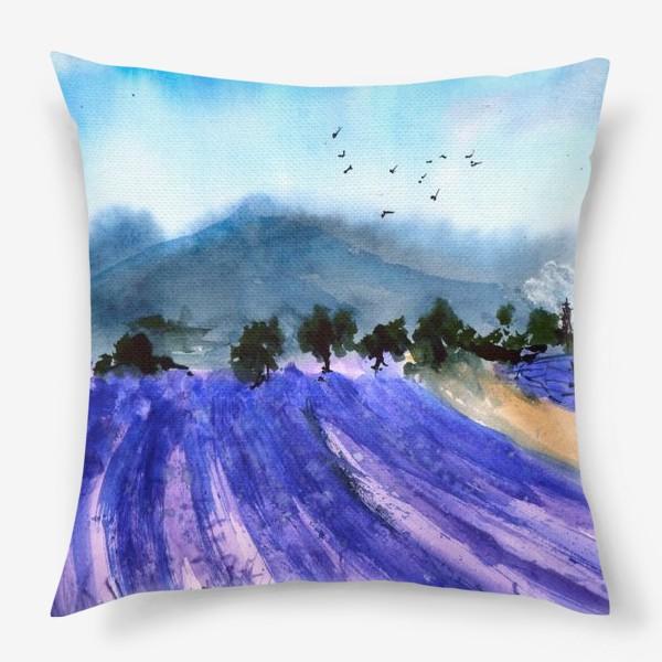 Подушка «Лавандовые поля Прованса»