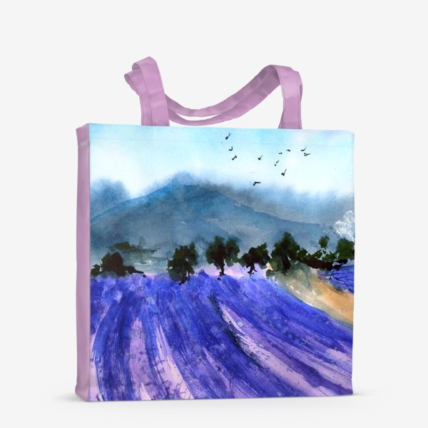 Сумка-шоппер «Лавандовые поля Прованса»