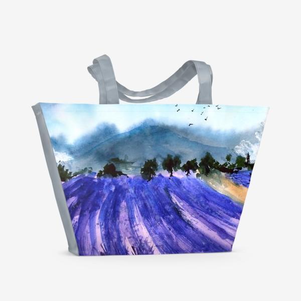 Пляжная сумка «Лавандовые поля Прованса»