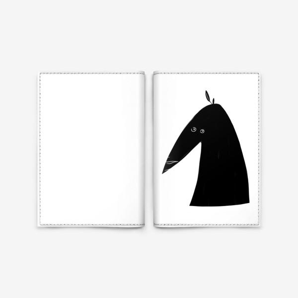Обложка для паспорта «Птица черная с белыми пятнами»