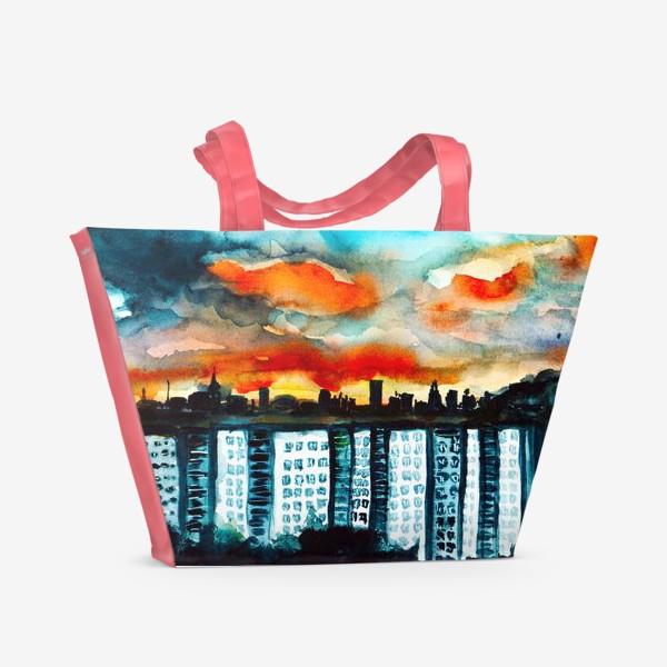 Пляжная сумка «Городская романтика»
